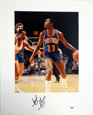 Isiah Thomas Autographed 16x20 Matted Photo Detroit Pistons PSA/DNA #AB51620