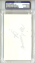 Muhammad Ali Autographed 3x5 Index Card Vintage PSA/DNA #83059329