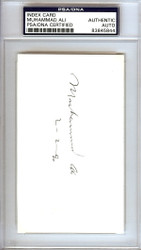 "Muhammad Ali Autographed 3x5 Index Card ""2-2-90"" PSA/DNA #83845844"