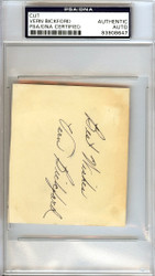 "Vern Bickford Autographed 3x3.5 Cut Signature Milwaukee Braves ""Best Wishes"" Signed in 1952 PSA/DNA #83908647"