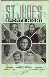 1965 Autographed Program With 8 Total Signatures including Elston Howard PSA/DNA #AB04674