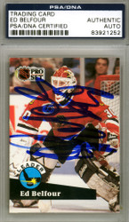Ed Belfour Autographed 1991-92 Pro Set Card #600 Chicago Blackhawks PSA/DNA #83921252