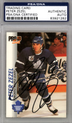 Peter Zezel Autographed 1992-93 Pro Set Card #187 Toronto Maple Leafs PSA/DNA #83921282