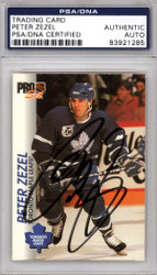 Peter Zezel Autographed 1992-93 Pro Set Card #187 Toronto Maple Leafs PSA/DNA #83921285