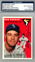 Bob Keegan Autographed 1994 1954 Topps Archives Reprint Card #100 Chicago White Sox PSA/DNA #83919977