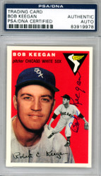 Bob Keegan Autographed 1994 1954 Topps Archives Reprint Card #100 Chicago White Sox PSA/DNA #83919978