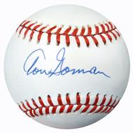 Tom Gorman Autographed Official AL Baseball Yankees PSA/DNA #AC23180