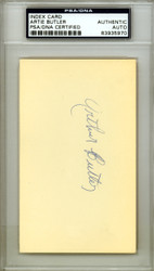 "Arthur ""Artie"" Butler Autographed 3x5 Index Card St. Louis Cardinals PSA/DNA #83935970"