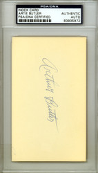 "Arthur ""Artie"" Butler Autographed 3x5 Index Card St. Louis Cardinals PSA/DNA #83935972"