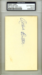 "Arthur ""Artie"" Butler Autographed 3x5 Index Card St. Louis Cardinals PSA/DNA #83935974"