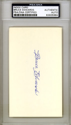 Bruce Edwards Autographed 3x5 Index Card Brooklyn Dodgers PSA/DNA #83935984