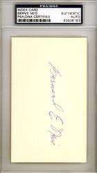 Bernie Neis Autographed 3x5 Index Card Brooklyn Dodgers PSA/DNA #83936183