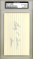 Billy Queen Autographed 3x5 Index Card Milwaukee Braves PSA/DNA #83936216