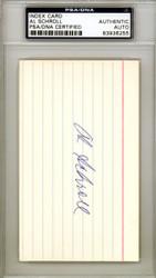 Al Schroll Autographed 3x5 Index Card Chicago Cubs PSA/DNA #83936255