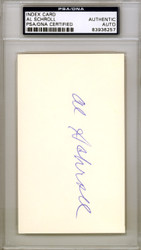 Al Schroll Autographed 3x5 Index Card Chicago Cubs PSA/DNA #83936257