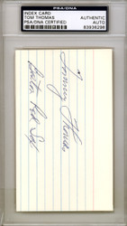 Al Tommy Thomas Autographed 3x5 Index Card Boston Red Sox PSA/DNA #83936298