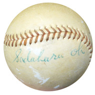 Sadaharu Oh Autographed Official Yomiuri Giants Game Used Baseball Vintage Signature PSA/DNA #AC00439