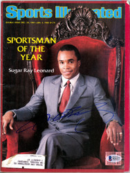 Sugar Ray Leonard Autographed Sports Illustrated Magazine Beckett BAS #B26277