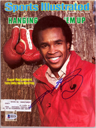 Sugar Ray Leonard Autographed Sports Illustrated Magazine Beckett BAS #B26278