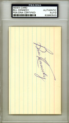 Bill Kennedy Autographed 3x5 Index Card Boston Red Sox PSA/DNA #83960503