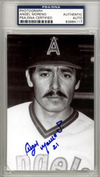 Angel Moreno Autographed 3.5x5.5 Photo California Angels PSA/DNA #83964117