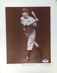 Joe DiMaggio Autographed M114 Baseball 9.5x12 Magazine Page Photo New York Yankees Vintage PSA/DNA #AC05106
