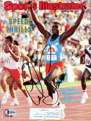 Carl Lewis Autographed Sports Illustrated Magazine Olympics Beckett BAS #B61058