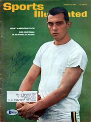 Ron Vanderkelen Autographed Sports Illustrated Magazine Minnesota Vikings Beckett BAS #B61108