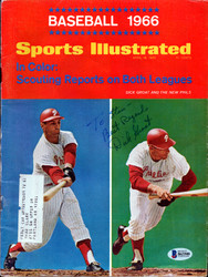"Dick Groat Autographed Sports Illustrated Magazine Philadelphia Phillies ""To Stan"" Beckett BAS #B63508"
