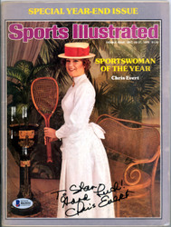 "Chris Evert Autographed Sports Illustrated Magazine ""To Stan"" Beckett BAS #B63551"