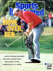 Curtis Strange Autographed Sports Illustrated Magazine Beckett BAS #B61220