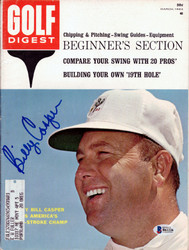 Billy Casper Autographed Golf Digest Magazine Beckett BAS #B61226