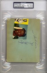 Hank Aaron Autographed 4.5x6 Album Page Milwaukee Braves Vintage Early 1960's Signature PSA/DNA #83964260