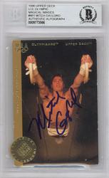 Mitch Gaylord Autographed 1996 Upper Deck Olympics Card #M11 USA Beckett BAS #9773566