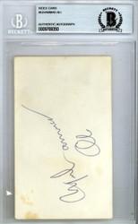 Muhammad Ali Autographed 3x5 Index Card Vintage Beckett BAS #9769350
