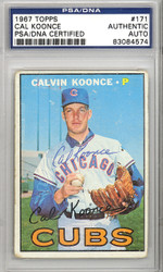 Cal Koonce Autographed 1967 Topps Card #171 Chicago Cubs PSA/DNA #83084574