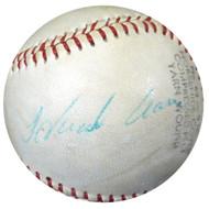 Hank Aaron Autographed Baseball Atlanta Braves Vintage Signature Beckett BAS #A04762