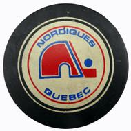 Unsigned Quebec Nordiques Vintage Puck SKU #123622