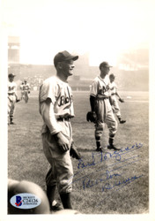 Earl Torgeson Autographed 5x7 Photo Boston Braves Beckett BAS #C24126