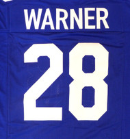 Seattle Seahawks Curt Warner Blue Jersey To Be Signed By Curt Warner