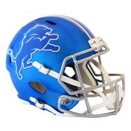 Detroit Lions Unsigned Blue Blaze Speed Full Size Helmet