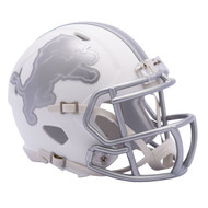 Detroit Lions Unsigned White Ice Mini Helmet