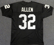 Copy of Oakland Raiders Marcus Allen Black Jersey to be signed by Marcus Allen
