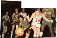 Elvin Hayes Art Williams & Jim Barnett Autographed 4x6 Magazine Page Photo Beckett BAS #C24146