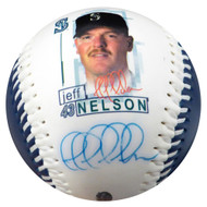 Jeff Nelson Autographed Fotoball Baseball Seattle Mariners MCS Holo #77151