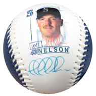 Jeff Nelson Autographed Fotoball Baseball Seattle Mariners MCS Holo #77162