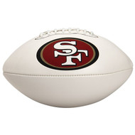 Unsigned San Francisco 49ers White Logo Football To Be Signed By Jerry Rice