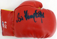 Sir Henry Cooper Autographed Red Boxing Glove Beckett BAS #C71414