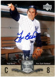 Yogi Berra Autographed 2005 Upper Deck All Stars Classics Card #100 New York Yankees Steiner SKU #126174