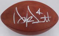 Dak Prescott Autographed Official NFL Leather Football Dallas Cowboys Beckett BAS Stock #126603